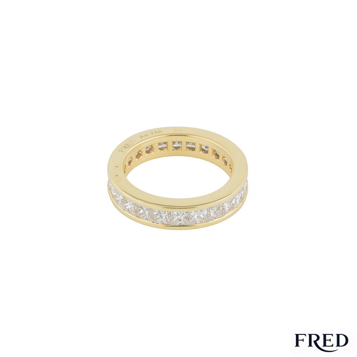 Fred Yellow Gold Diamond Eternity Ring 3.12ct F/VS+